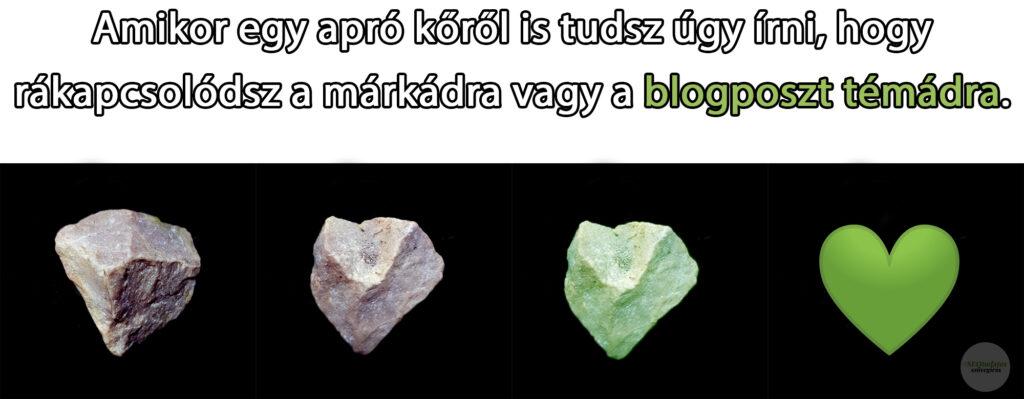 Szív alakú kőből blogposzt témaötletek - Tóth Adorján, SEOtudatos szövegíró
